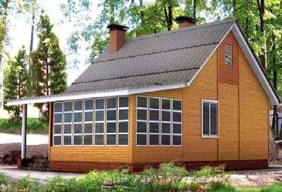 Пристройка к дому из дерева 4 на 2