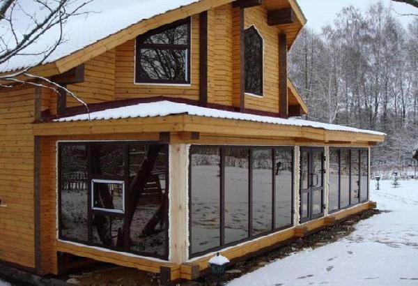 Зимняя веранда к дому 8х2