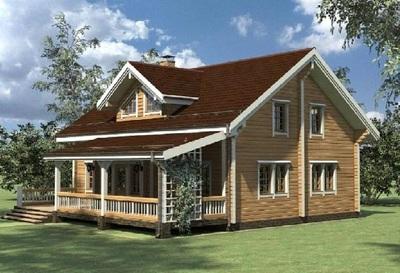 Пристройка к дому с двухскатной крышей 6х2