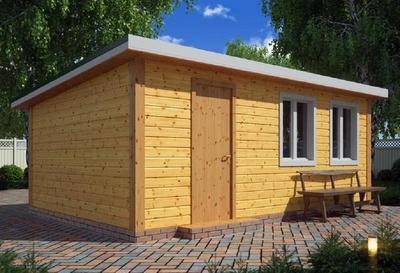 Деревянный сарай для дачи 6х4