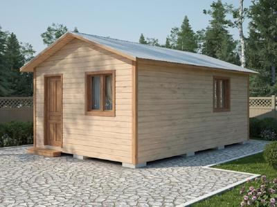 Двухскатный деревянный сарай для дачи 6х4