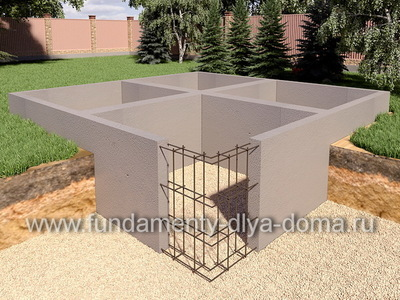 Фундамент с подвалом 9х8