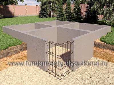 Фундамент с подвалом 7х8