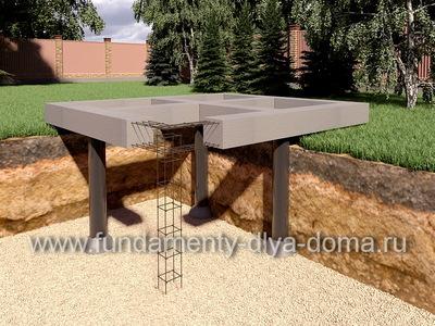 Свайный фундамент с  ростверком 6х6