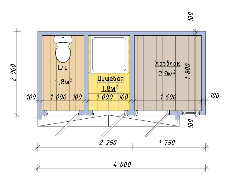 Душ сарай туалет на даче - Архив: Туалет, душ, хозблок, 3в1, для дачи. - Сантехника Червень на Olx